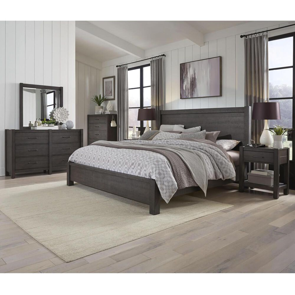 Riva Ridge Mill Creek 5 Piece California King Low Profile Bed Set in Carob, , large