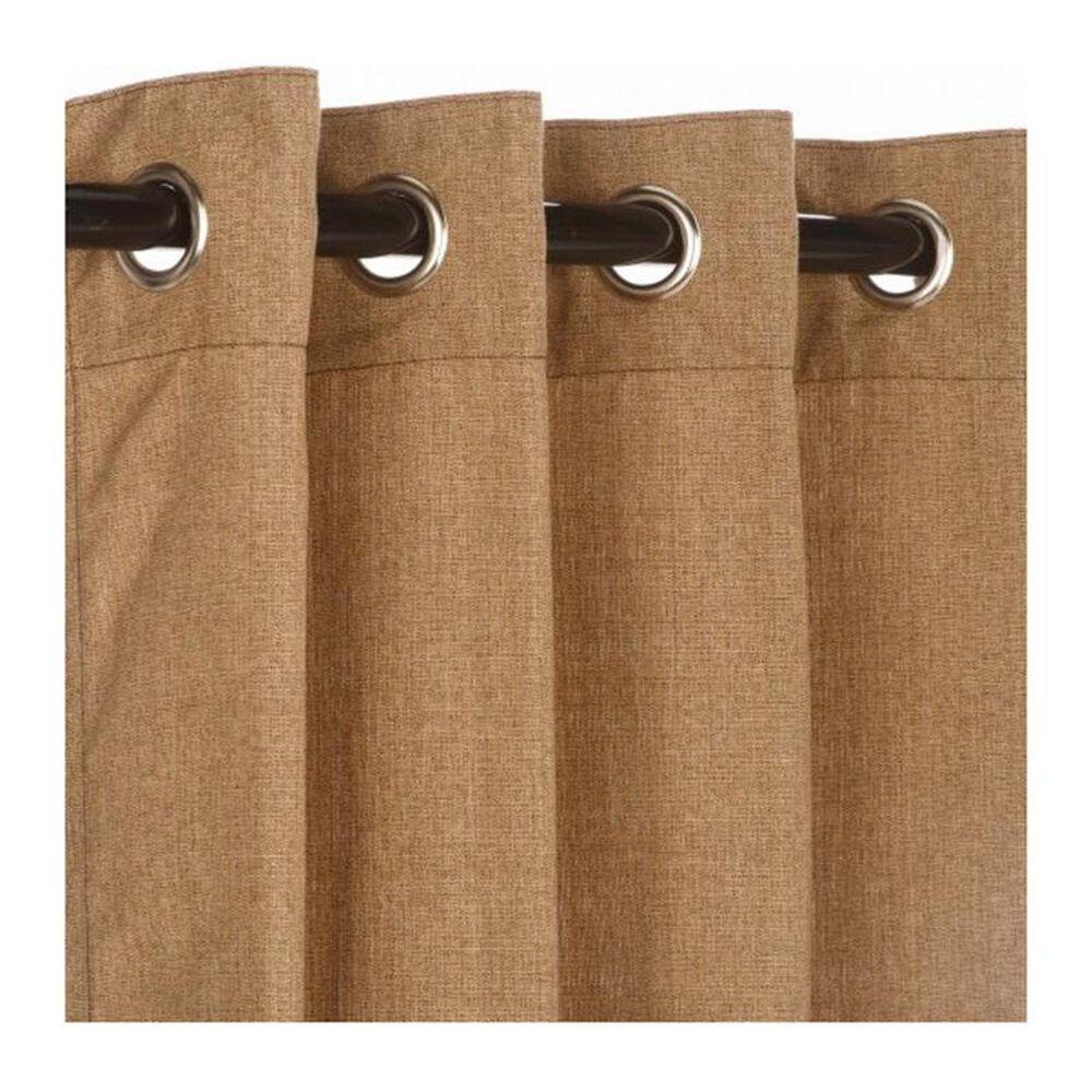 "The Hammock Source Sunbrella 50"" x 108"" Outdoor Curtain Grommet Panel in Linen Sesame, , large"