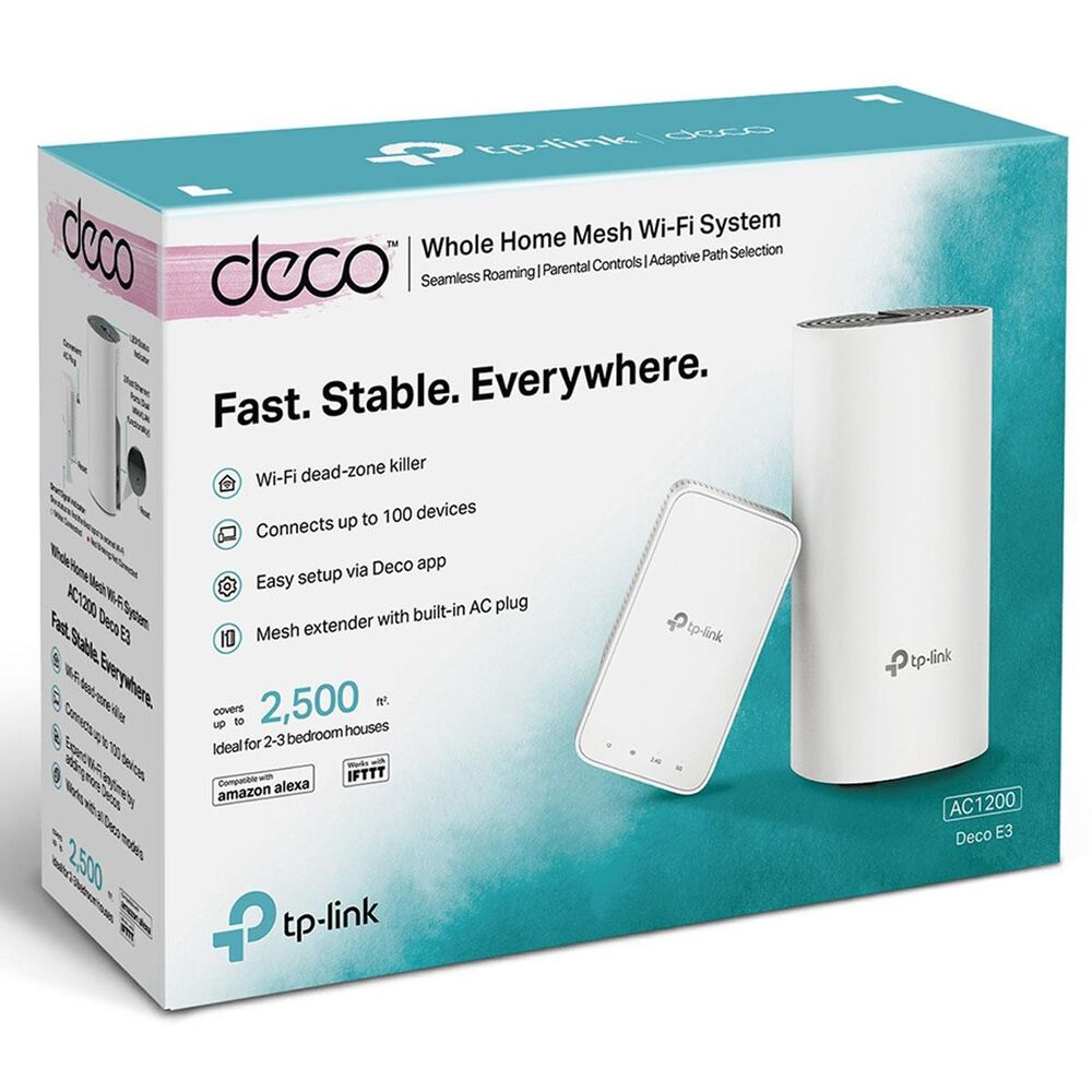 TP-LINK Deco E3 AC1200 Whole Home Mesh WiFi System, , large