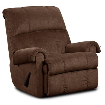 Northwestern Rolled Arm Rocker Recliner in Kelly Chocolate, , large