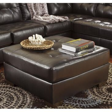 Signature Design by Ashley Alliston DuraBlend Oversized Ottoman in Chocolate, , large