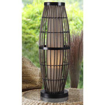 Kenroy Biscayne Outdoor Table Lamp in Ratan/Black, , large