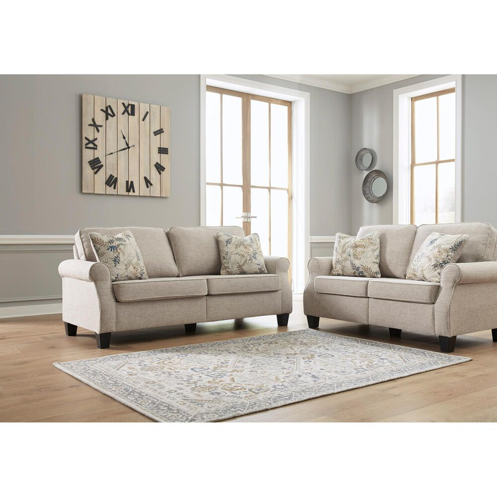 Signature Design by Ashley Alessio Loveseat in Beige, , large
