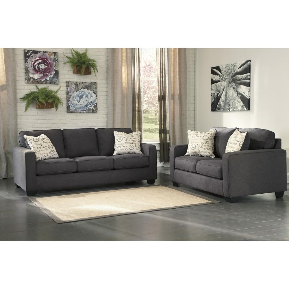 Signature Design by Ashley Alenya Loveseat in Charcoal, , large