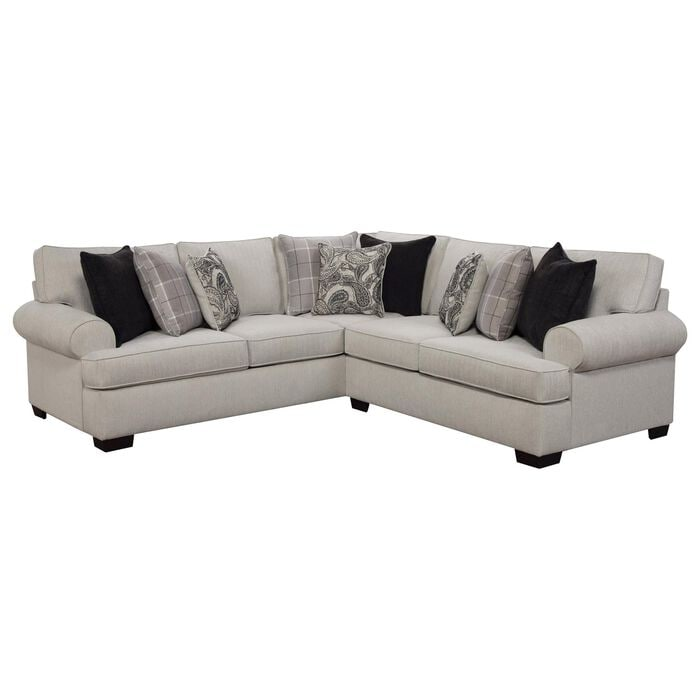 Northwestern Cooper 2-Piece Sectional in Alabaster