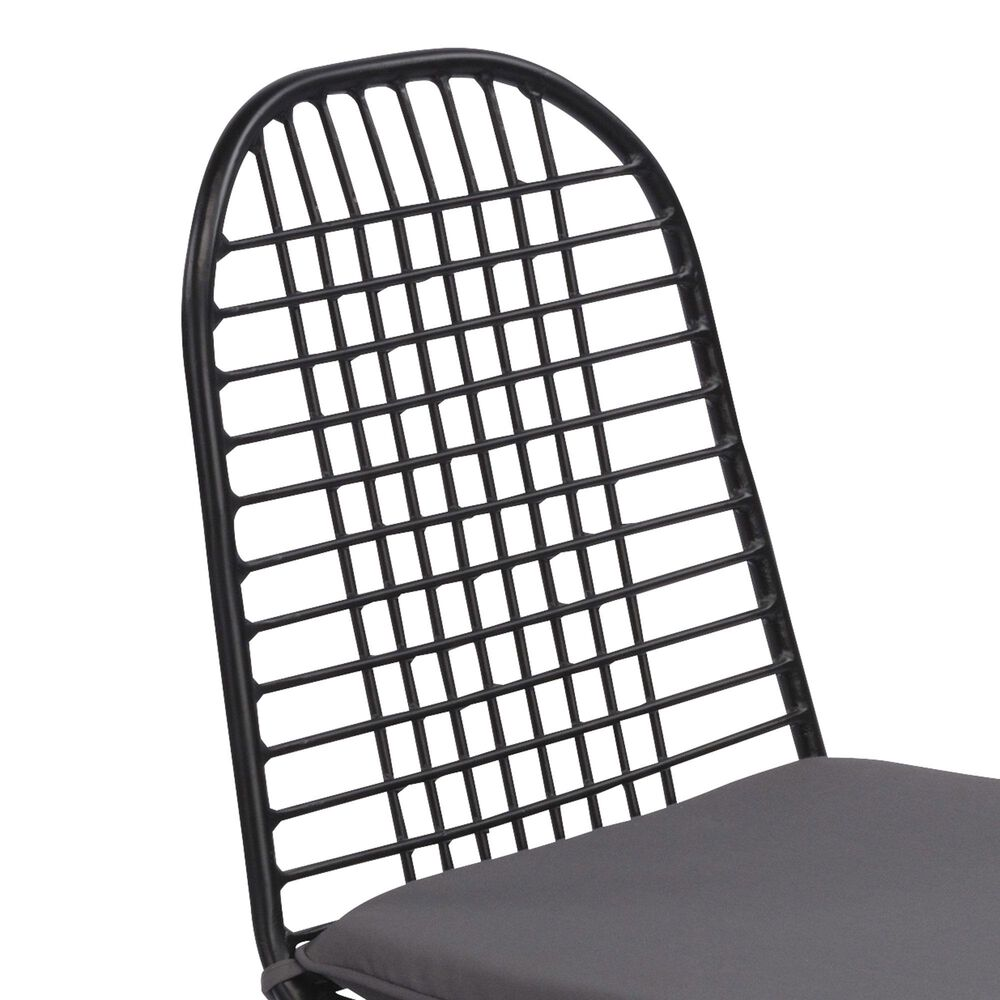 Home Styles Du Juor Chair with Cushion in Black (Set of 2), , large