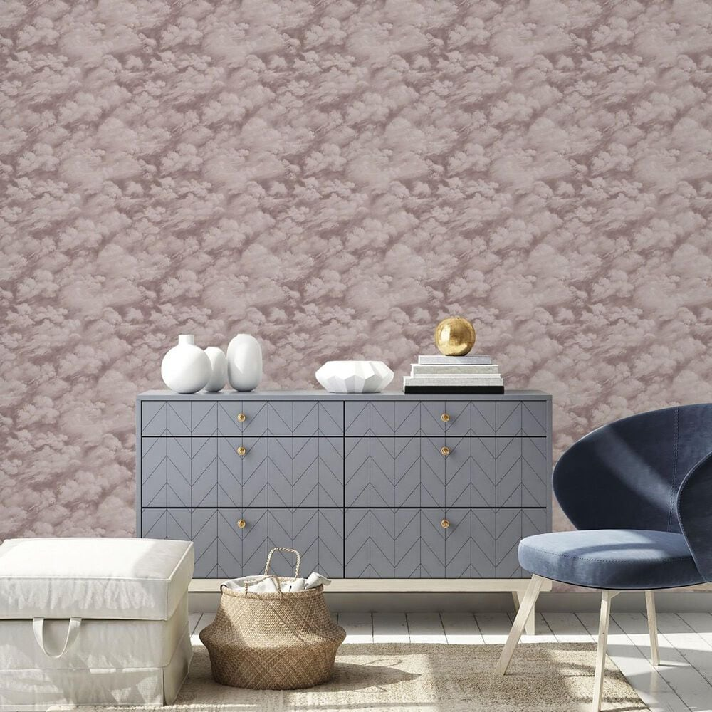Tempaper Clouds Fog Grey Peel and Stick Wallpaper, , large