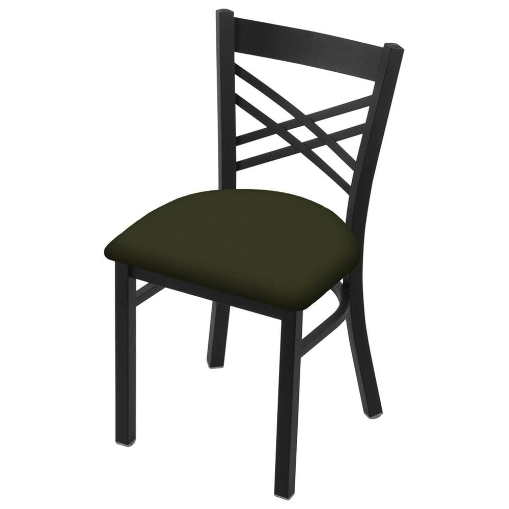 """Holland Bar Stool 620 Catalina 18"""" Chair with Black Wrinkle and Canter Pine Seat, , large"""