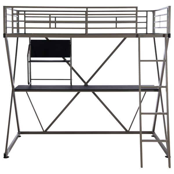 Parkerville Furniture Line Twin Z-Loft Bed in Pewter