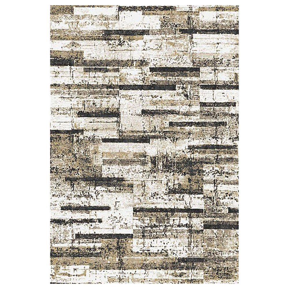 """Central Oriental Sientan Rehan 2516.256 5'3"""" x 7'3"""" Light Beige and Yellow Area Rug, , large"""