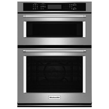 """KitchenAid 30"""" Combination Wall Oven, Stainless Steel, large"""