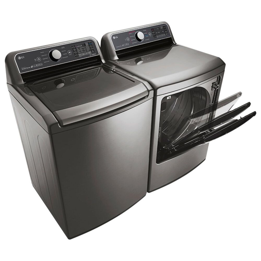 LG 5.0 Cu. Ft. Top Load Washer and 7.3 Cu. Ft. Electric Dryer in Graphite Steel, , large