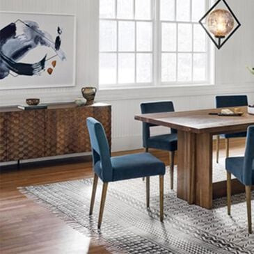 Four Hands Joseph Dining Chair in Bella Jasper and Toasted Nettlewood, , large