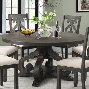 "Nineteen37 Stone 60"" Round Table in Dark Ash - Table Only, , large"