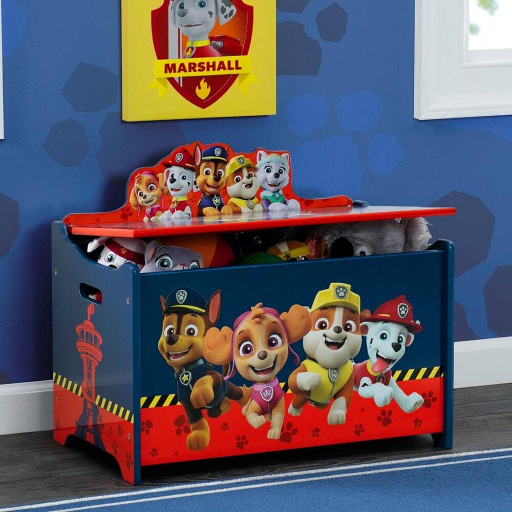 Delta Paw Patrol Deluxe Toy Box in Navy and Red, , large
