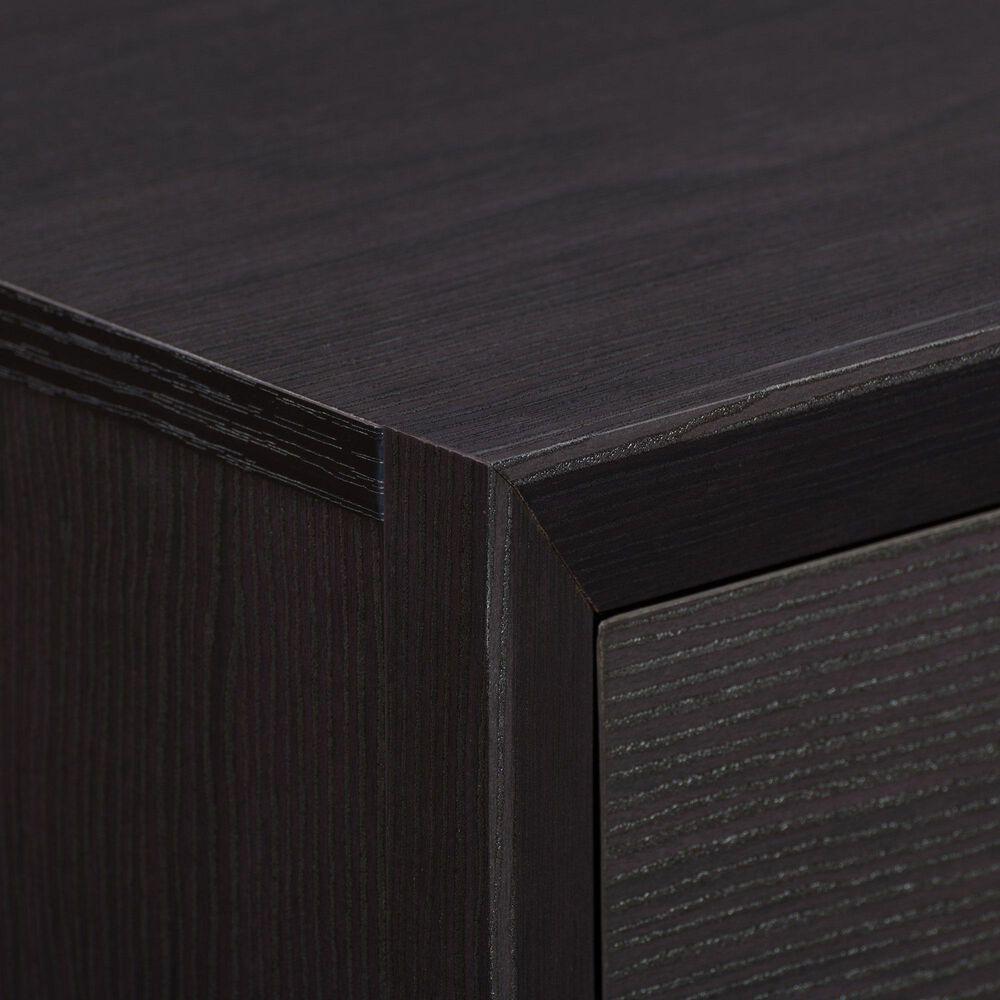 CorLiving Newport 1 Drawer Nightstand in Black Oak, , large