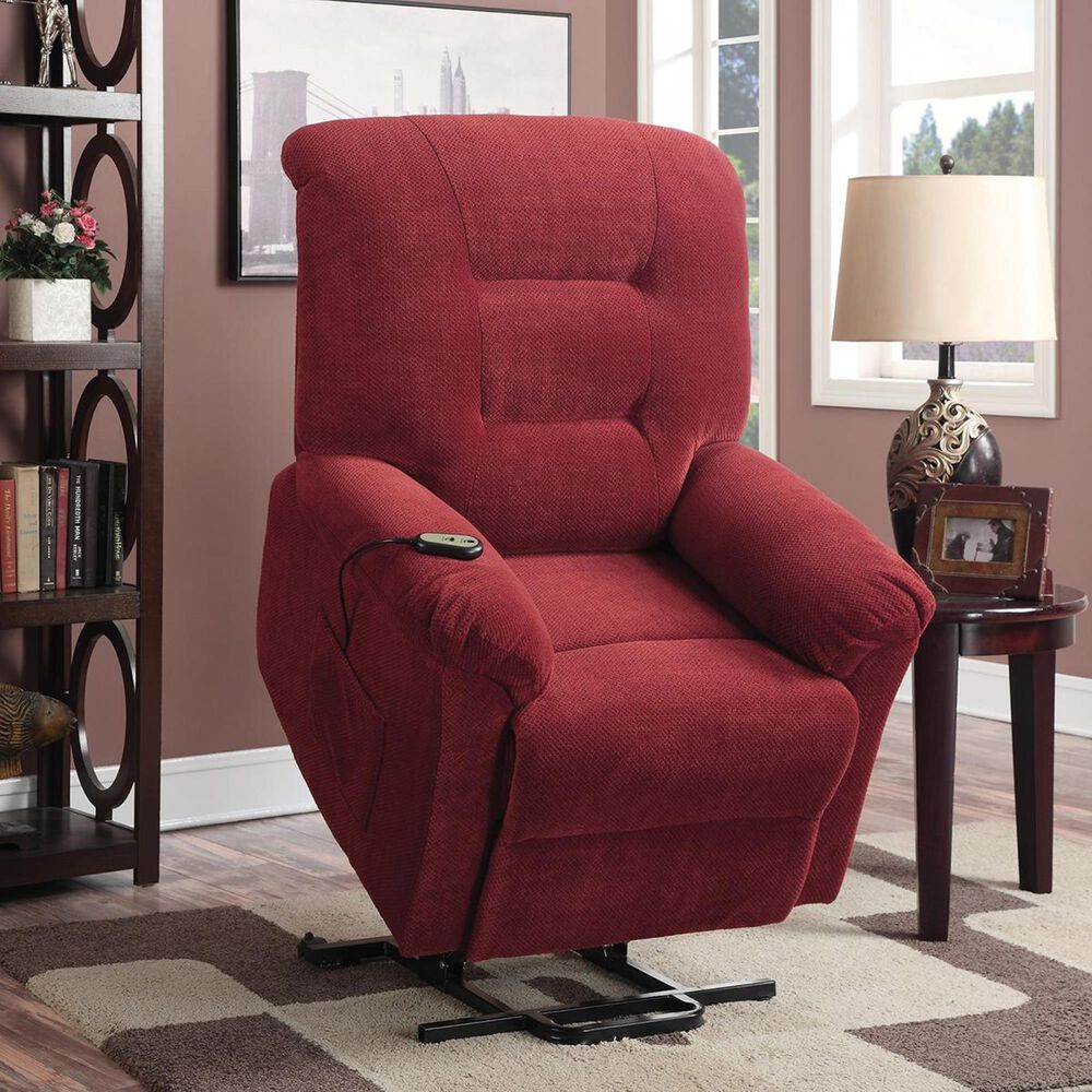 Pacific Landing Power Lift Recliner in Brick Red, , large