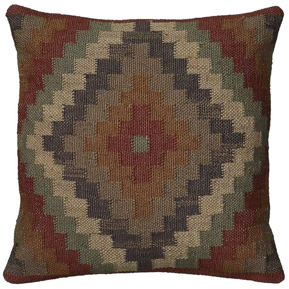 """Rizzy Home 18"""" x 18"""" Pillow Cover in Multicolor, , large"""