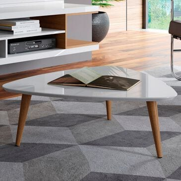 "Dayton Utopia 11.81"" Triangle Coffee Table in White Gloss, , large"
