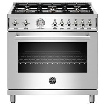 """Bertazzoni 36"""" Professional  All Gas Range in Stainless Steel, , large"""