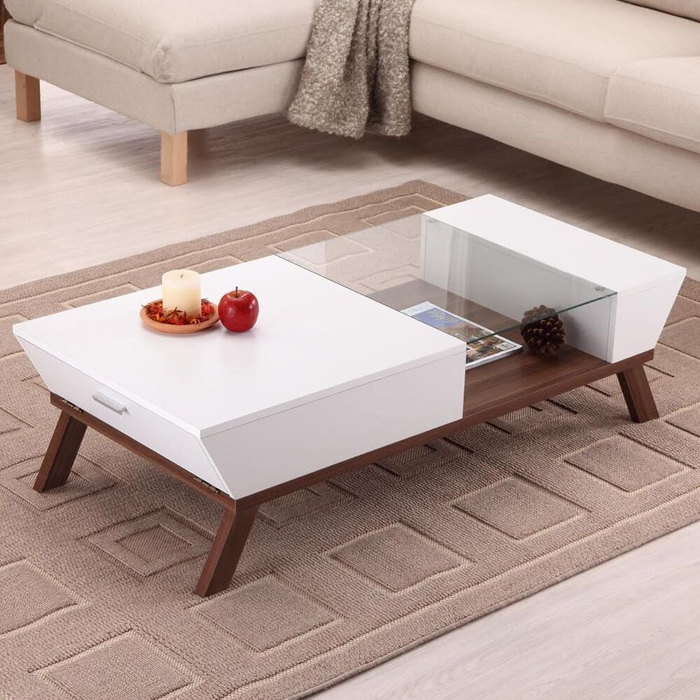 Furniture of America Parrish Coffee Table in White, , large