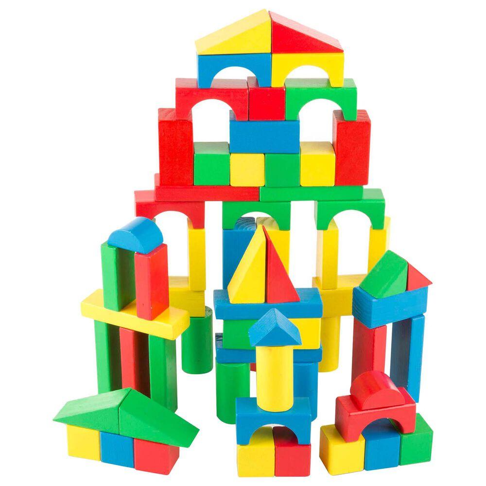 Melissa & Doug 100 Piece Wood Blocks Set, , large