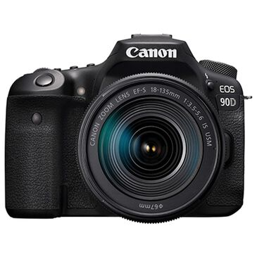 Canon EOS 90D DSLR Camera with 18-135mm Lens in Black, , large