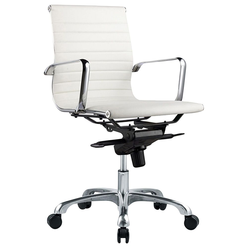 Moe's Home Collection Omega Swivel Office Chair in White, , large