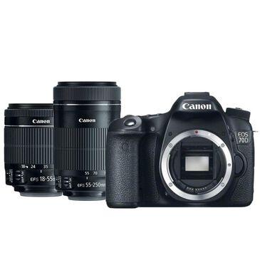 Canon 70D Digital SLR Camera w/ 18-55mm and 55-250mm STM Lenses, , large