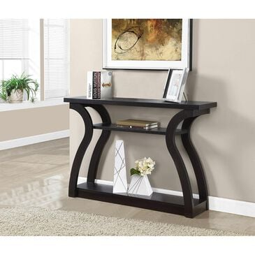 Monarch Specialties Rectangle Hall Console Table in Cappuccino, , large