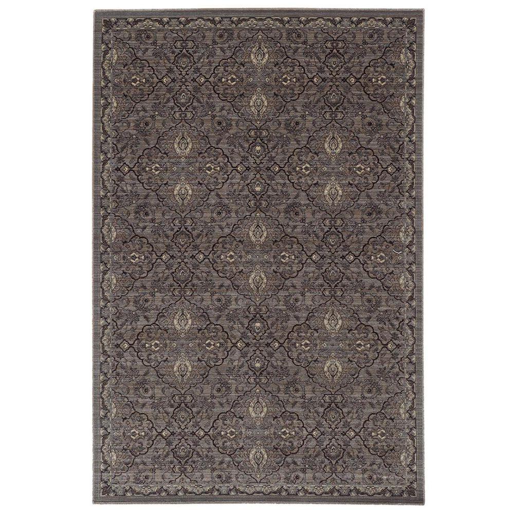 """Oriental Weavers Voyage 5509D 1""""10"""" x 3""""3"""" Brown Area Rug, , large"""
