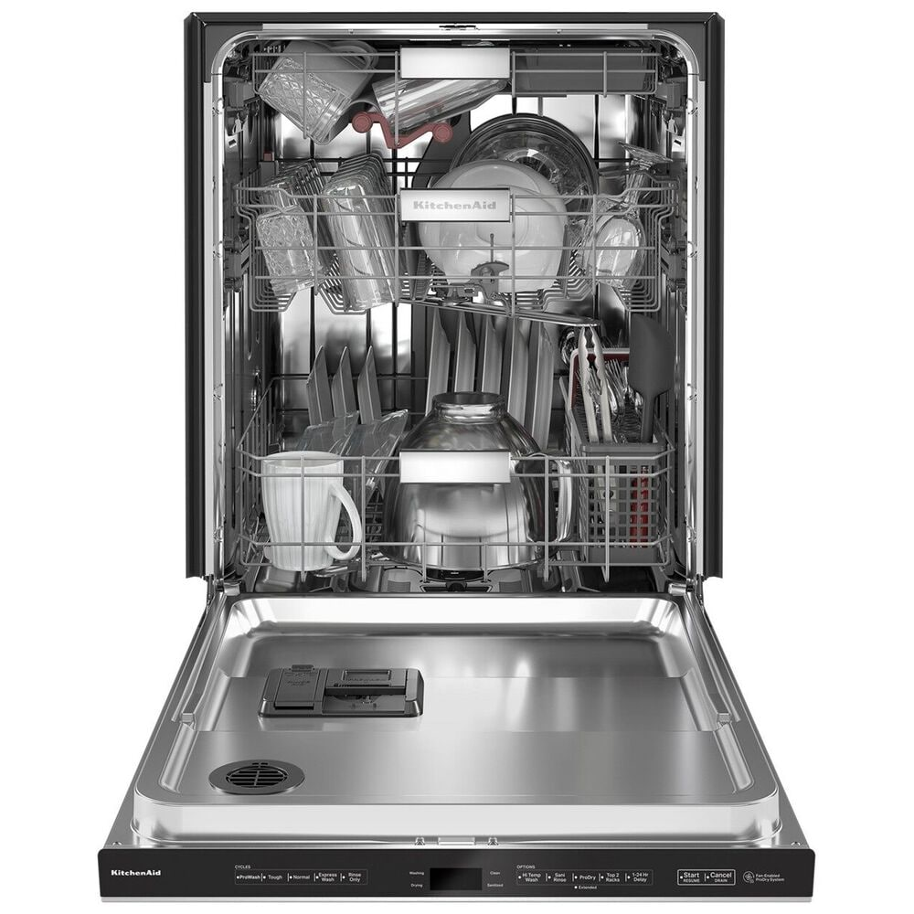 """KitchenAid 24"""" Built-In Pocket Handle Dishwasher with FreeFlex 3rd Rack and Top Control in PrintShield Stainless Steel, , large"""