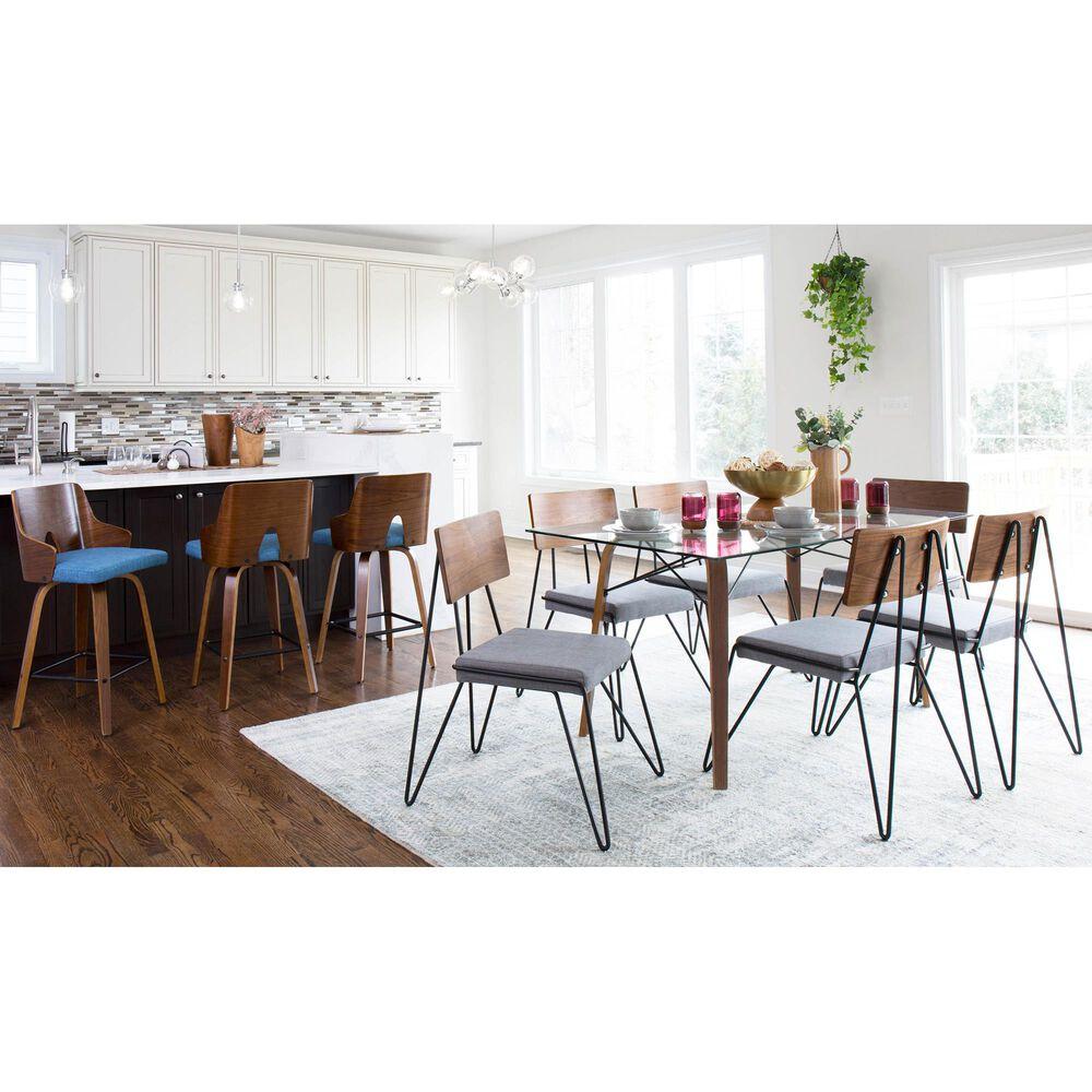 Lumisource Loft Dining Chair in Grey/Walnut/Black (Set of 2), , large