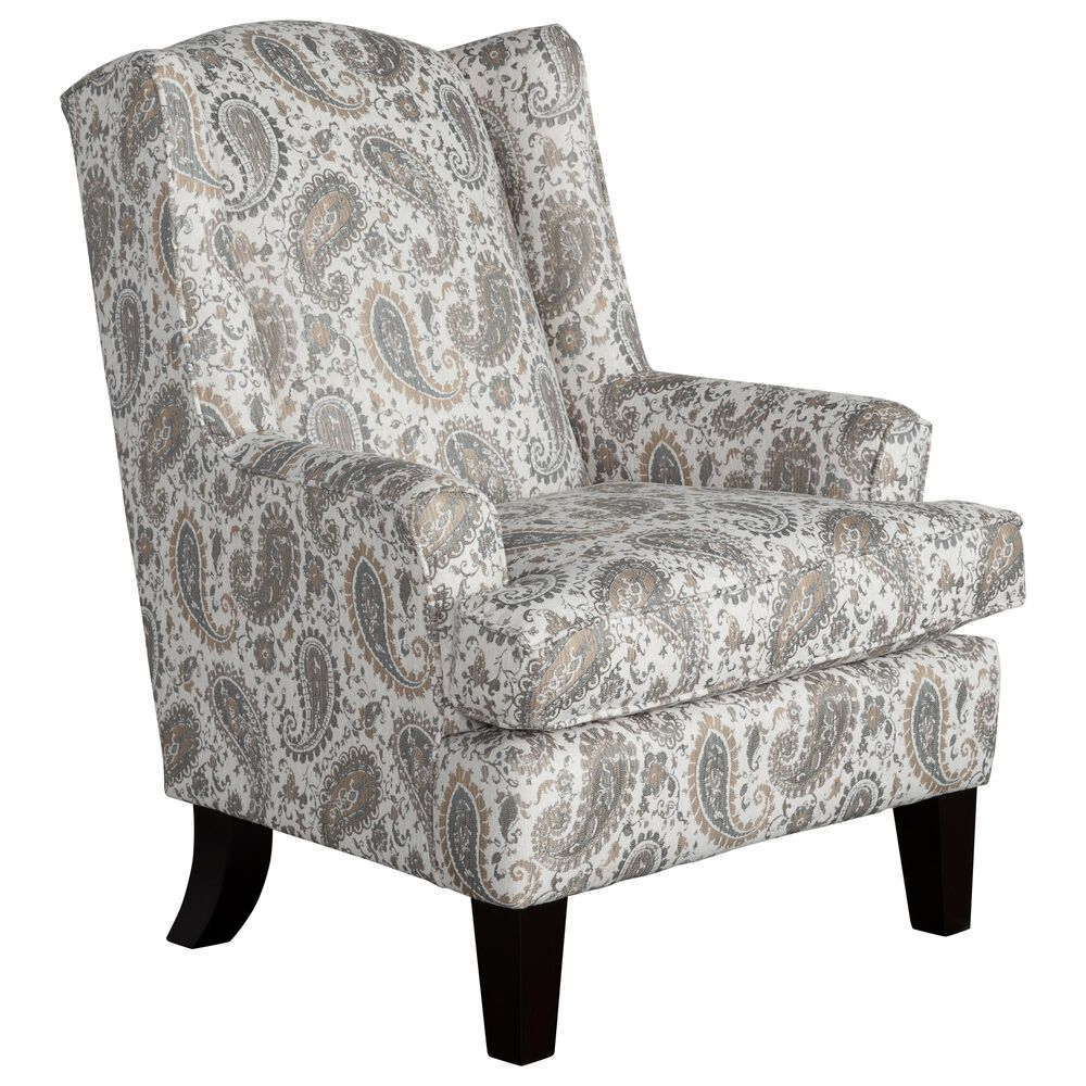 Best Home Furnishings Andrea Wing Chair in Pearl Grey, , large
