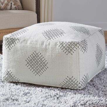Signature Design by Ashley Mabyn Pouf in Ivory/Beige/Gray, , large
