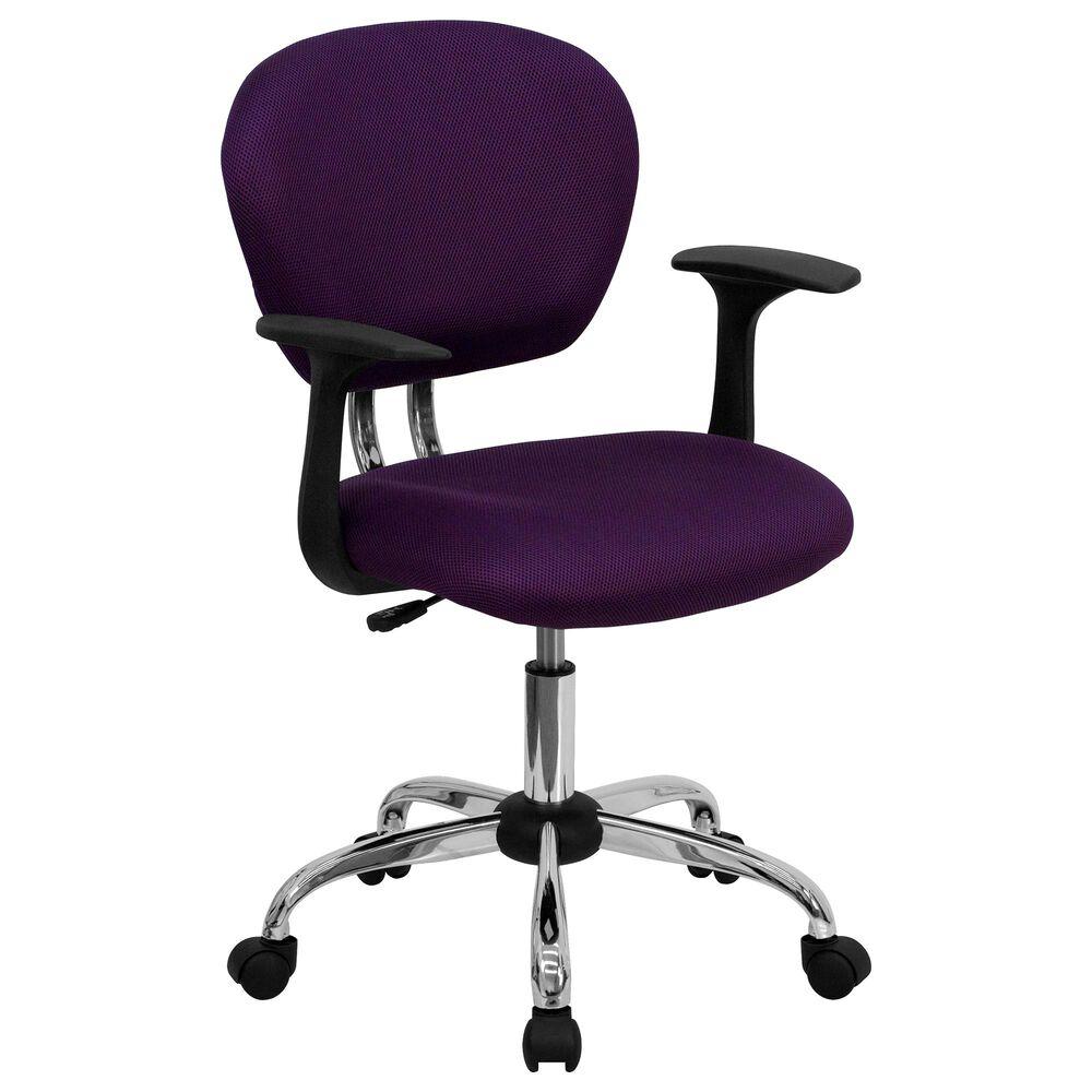 Flash Furniture Swivel Task Chair in Purple, , large