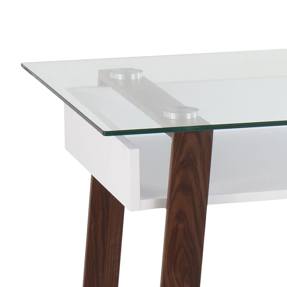Lumisource Duke Desk in White/Walnut, , large