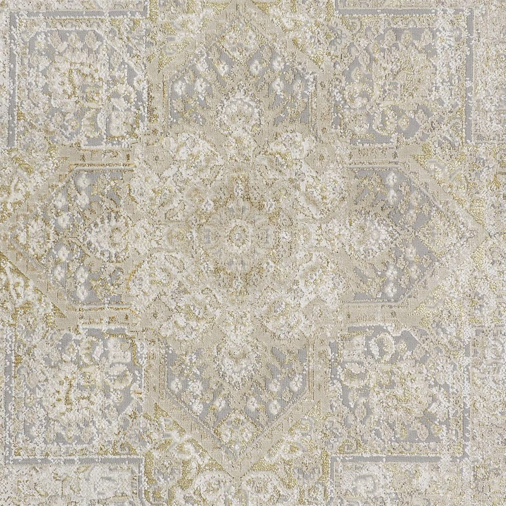 Feizy Rugs Aura 3734F 8' x 11' Brown and Gold Area Rug, , large