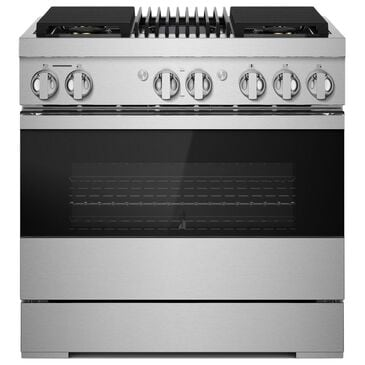 """Jenn-Air 36"""" Duel Fuel Noir Range with Grill in Stainless Steel, , large"""