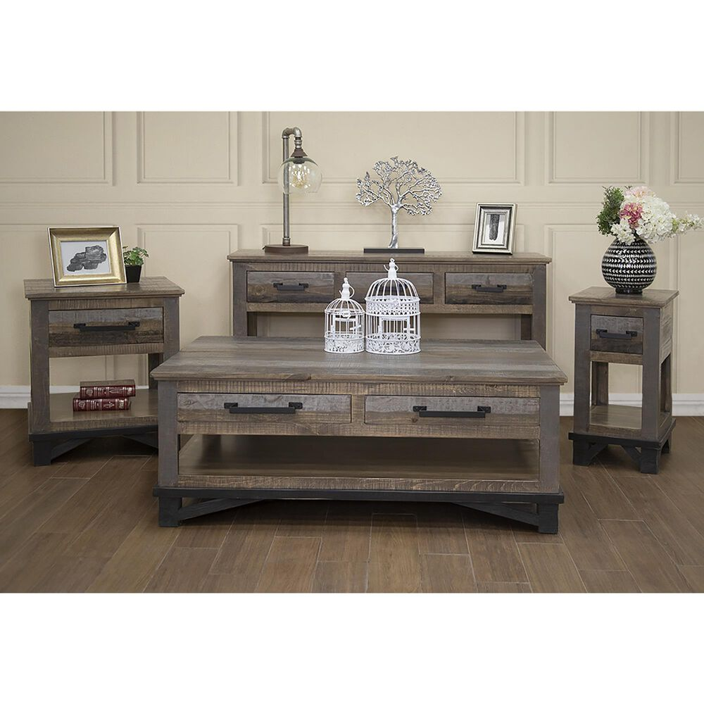 Fallridge Loft 1-Drawer End Table in Gray and Brown, , large