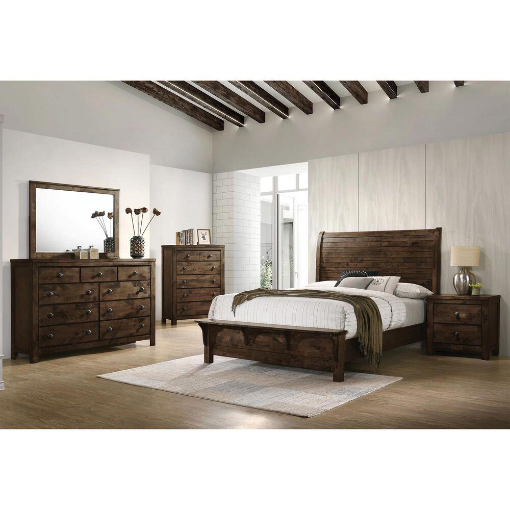 New Heritage Design Blue Ridge 3 Piece King Bedroom Set in Rustic Gray, , large
