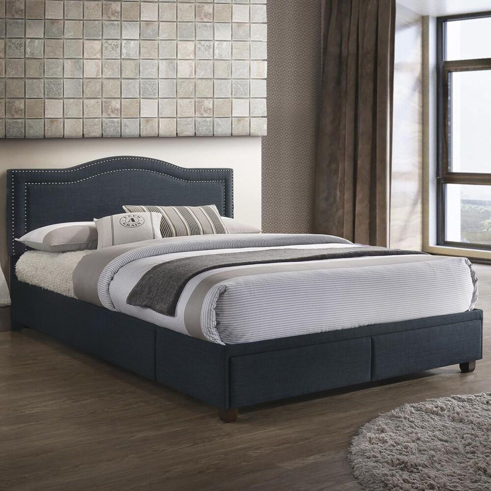 Accentric Approach Accentric Accents Queen Storage Bed with USB Charging, , large
