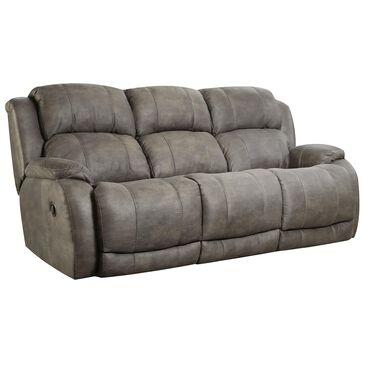 HomeStretch Denali Manual Reclining Sofa in Grey, , large