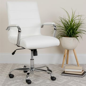Flash Furniture Annabel Chair in White, , large