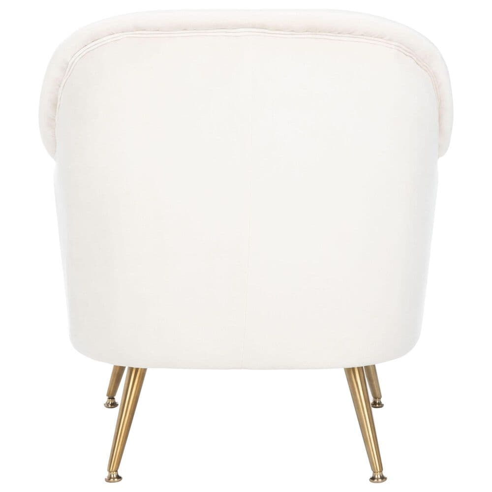 Safavieh Brienne Arm Chair in Ivory and Brass, , large