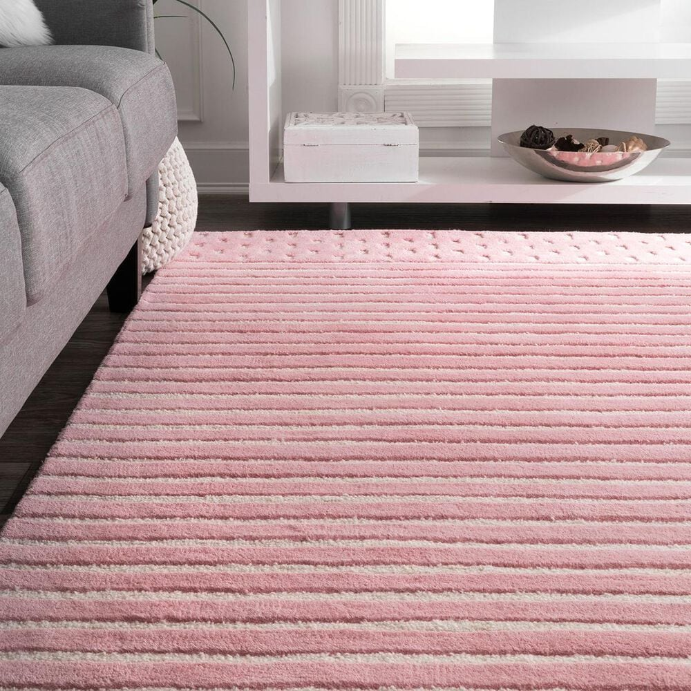 "nuLOOM Nora MTNR01C 7'7"" x 9'6"" Pink Area Rug, , large"