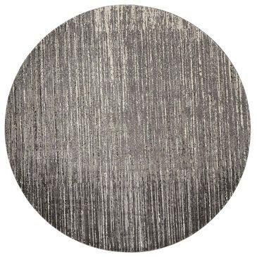 Nourison Twilight TWI14 8' Round Smoke Area Rug, , large