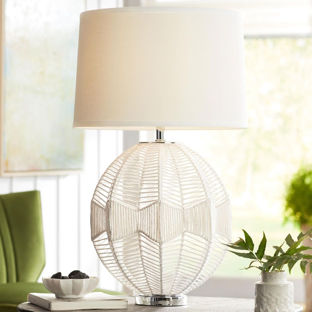 Pacific Coast Lighting North Shore Table Lamp in White, , large