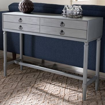 Safavieh Aliyah 4-Drawer Console Table in Distressed Grey, , large