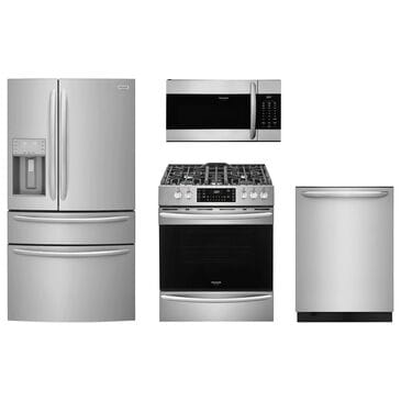 Frigidaire Gallery 4-Piece Kitchen Package with Slide-in Gas Range - Stainless Steel, , large